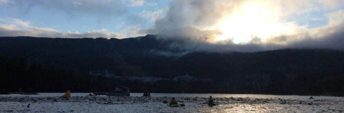 Swimmers in the morning - Ironman Tremblant