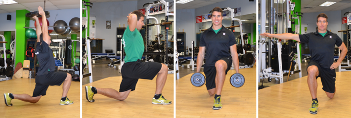 hands-lunges