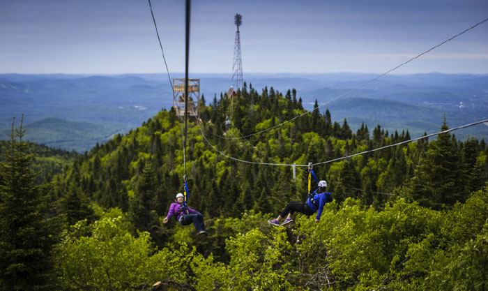 Challenge your colleagues to try Tremblant's Ziptrek, a series of 5 ziplines that will send you soaring through a range of emotions.