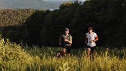 Trail running at Tremblant